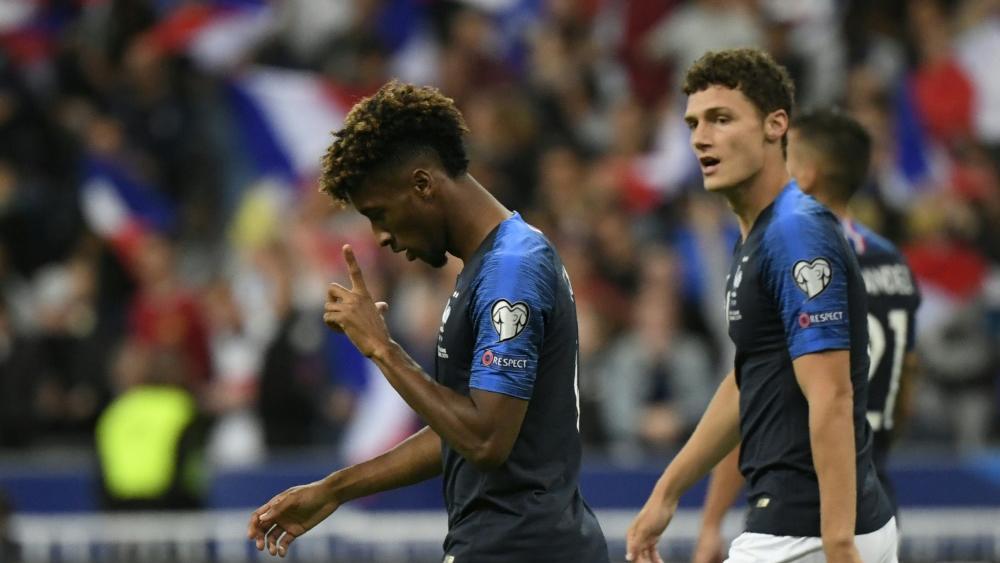Coman marcó un doblete con Francia.