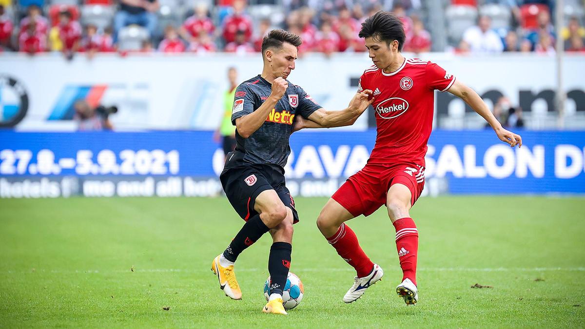 Jahn Regensburg und Fortuna Düsseldorf teilen sich die Punkte