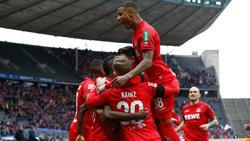 Jhon Córdoba feierte mit seinen Kölnern einen Kantersieg