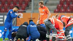 Mark Uth vom FC Schalke 04 verletzte sich gegen den FC Augsburg