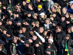 Een deel van de ADO Den Haag-supporters laat zich in het duel met Ajax van zijn slechtste kant zien. Riechedly Bazoer wordt racistisch bejegend. (17-01-2016)