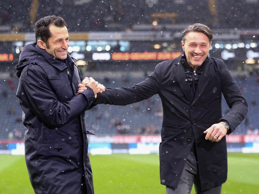 Gute befreundet: Bayern-Sportdirektor Salihamidzic (l.) und Niko Kovac
