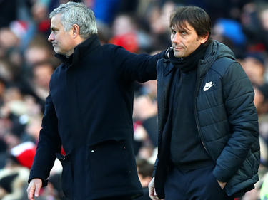 Mourinho und Conte (r.) konnten nicht immer miteinander