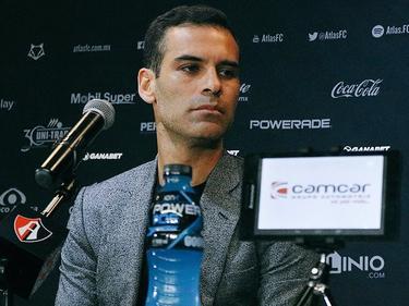 Rafa Márquez en su presentación de hoy. (Foto: twitter.com/atlasfc)