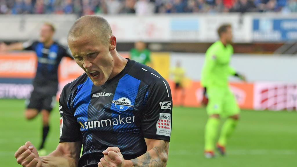 Sven Michel erzielte das 2:0 für den SC Paderborn