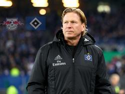 HSV-Coach Markus Gisdol warnt vor dem Leipziger Hochgeschwindigkeitsfußball