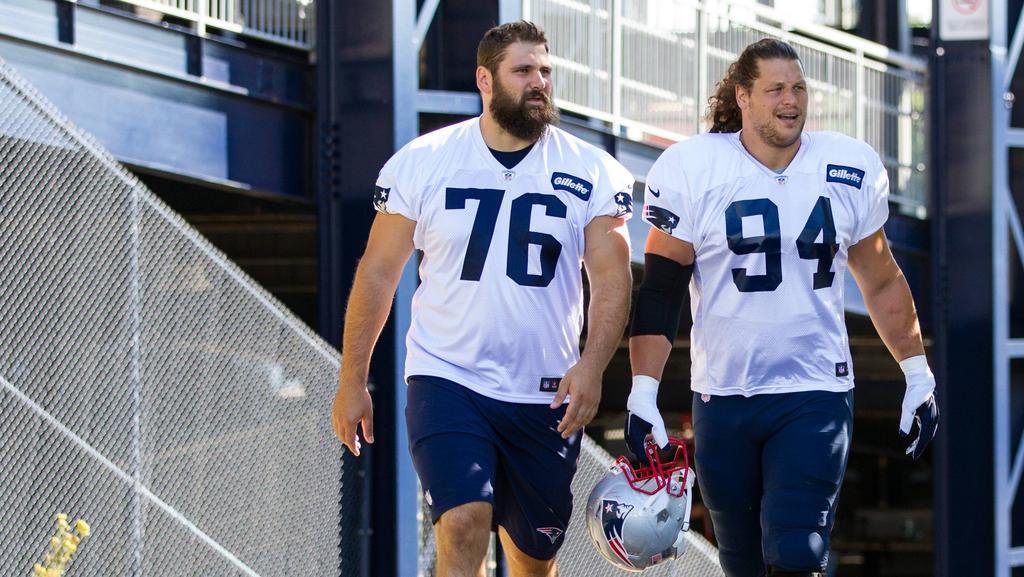 Im Sommer 2016 trainierten Vollmer (li,) und Kuhn gemeinsam bei den Patriots