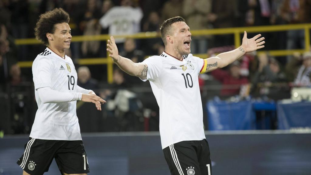 Laut Lukas Podolski hat Leroy Sané vom FC Bayern noch kein Top-Niveau