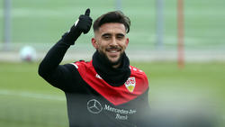 Nicolás González beim Training in Stuttgart