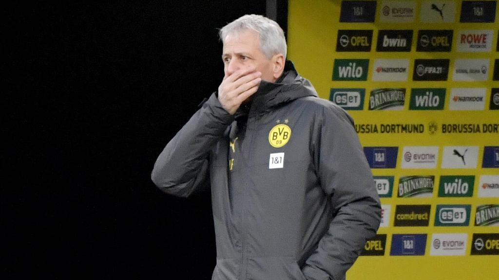 Lucien Favre musste mit dem BVB einen Rückschlag verkraften