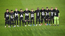 Die deutsche Nationalmannschaft setzte gegen Island ein Zeichen