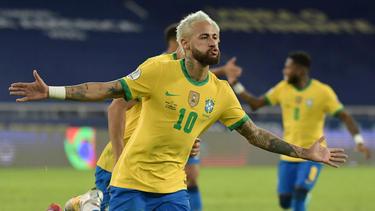 Mit viel Spielfreude: Brasiliens Neymar
