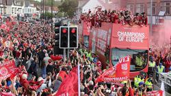 Ganz Liverpool ist nach dem Triumph in der Champions League auf den Beinen