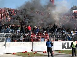 Die Fans des 1. FC Nürnberg sorgten wiederholt für Ärger