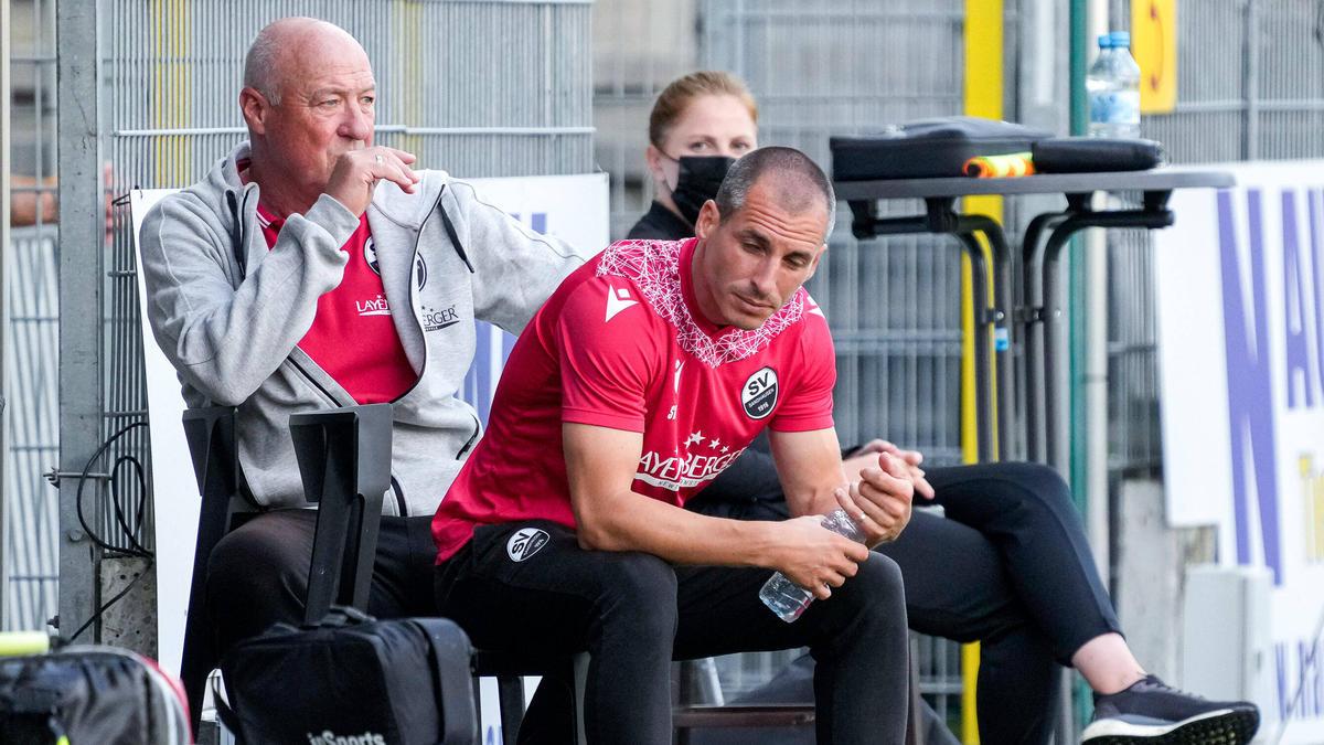 Kleppinger (li.) und Kulovits (re.) mussten beim SV Sandhausen ihren Hut nehmen