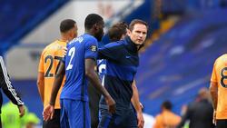 Chelsea-Verteidiger Antonio Rüdiger (l.) hatte unter Frank Lampard (r.) einen schweren Stand