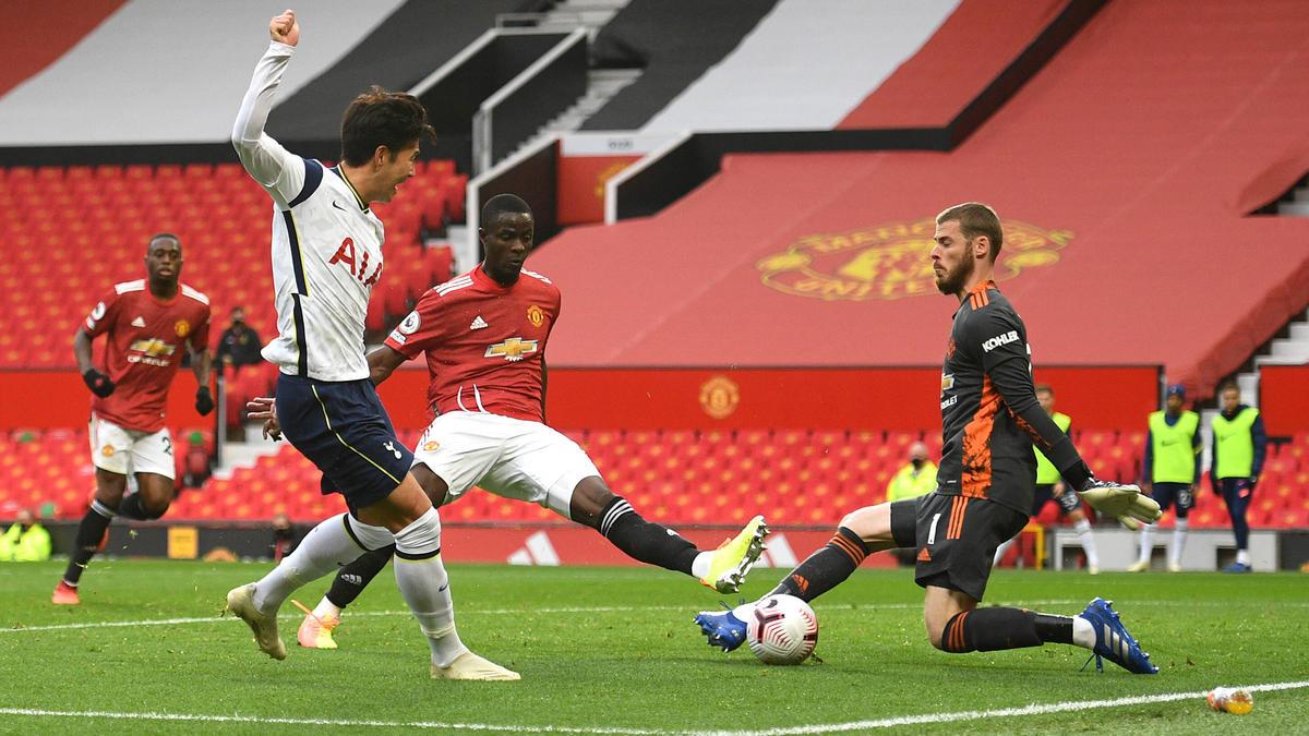 Heung-min Son (l.) überragte gegen Manchester United