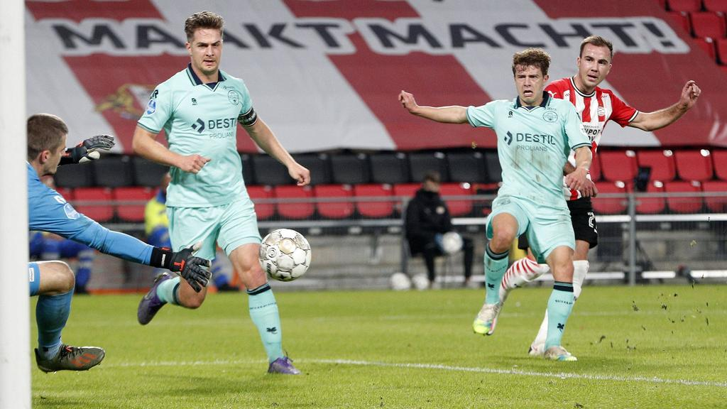 Ex-BVB-Profi Götze versenkte den Ball zum 2:0 im langen Eck
