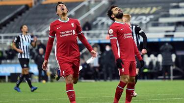 Roberto Firmino (l.) und Mohamed Salah (r.) verzweifelten am gegnerischen Torwart