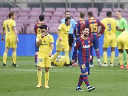 Am Ende reichte es beim Rekordspiel von Lionel Messi nur zu einem Remis
