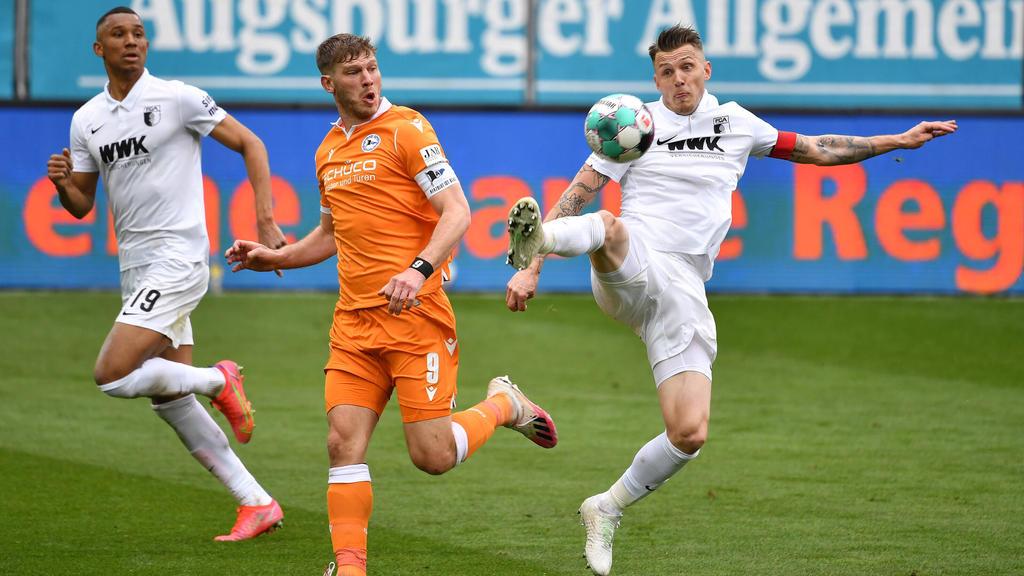 Bielefeld spielte nur Remis in Augsburg
