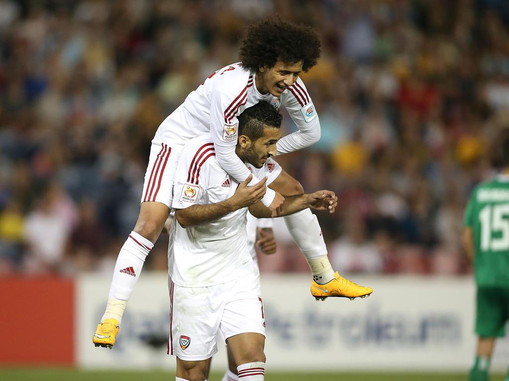 Ahmed Khalil bejubelt sein Tor für die VAE