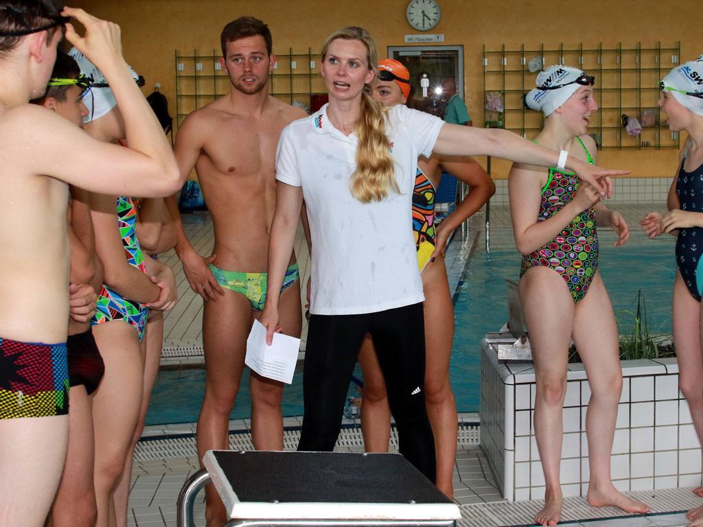 Britta Steffen äußert sich kritisch über die Entwicklung des Schwimmens