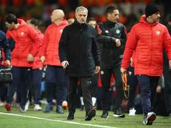 Mourinho fue eliminado con el United por el Sevilla. (Foto: Getty)
