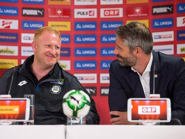 In Zukunft beim selben Arbeitgeber: Heiko Vogel und Marco Rose