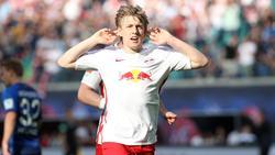 Leipzigs Emil Forsberg hat zur Zeit viel Grund zur Freude