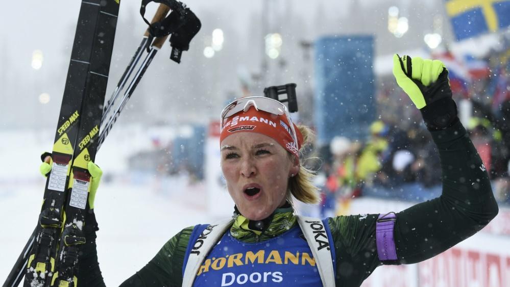 Denise Herrmann gewann den Titel im Sprint