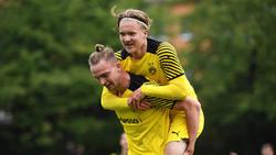 Trafen für den BVB in der Youth League: Bradley Thomas Fink (u.) und Julian Rijkhoff