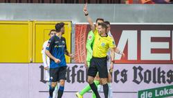 Gerrit Holtmann sah gegen den VfL Wolfsburg die Rote Karte