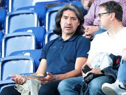 Carlos Chaile beim SKN mit Spielervermittler Otto Hauptmann