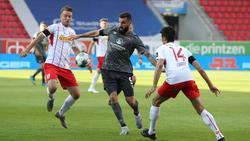 Der 1. FC Nürnberg konnte eine Niederlage gegen Jahn Regensburg abwenden
