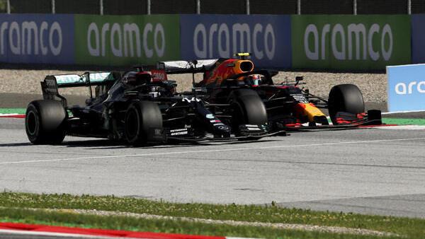 Lewis Hamilton und Alexander Albon kollidierten beim Grand Prix in Spielberg