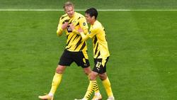 Haaland anotó con el primer cuero que tocó en el partido.