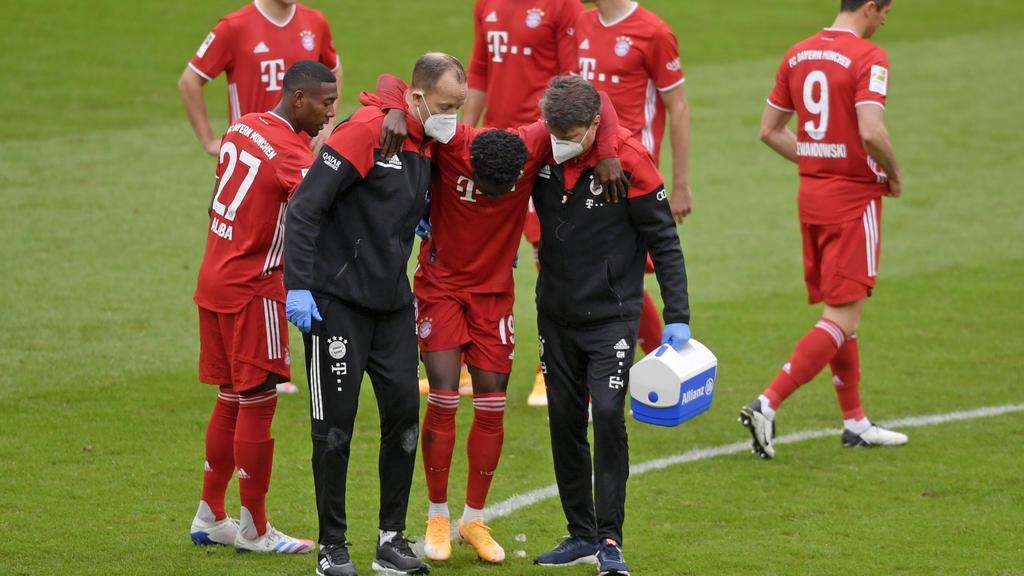 Alphonso Davies musste verletzt ausgewechselt werden