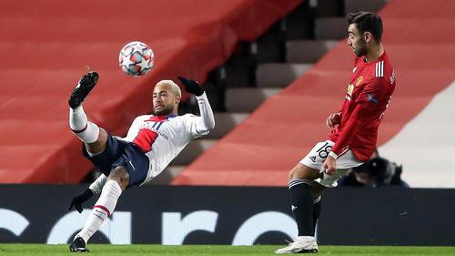 Neymar erzielte einen Treffer gegen Manchester United