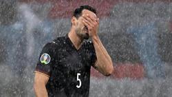 Mats Hummels stand im Regen von München 90 Minuten gegen Ungarn auf dem Rasen