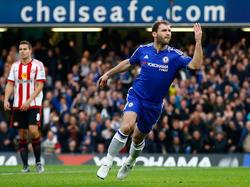 Ivanović celebrando su gol ante el Sunderland. (Foto: Getty)