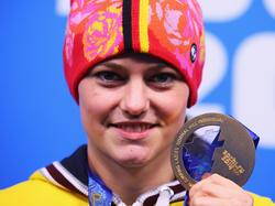 Historische Goldmedaille für Carina Vogt