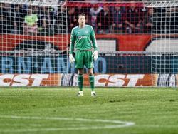 Tegen De Graafschap speelt Diederik Boer zijn eerste officiële minuten van dit seizoen. De AFC Ajax-speler houdt de nul en mede daardoor wint Ajax met 2-0. (24-09-2015)