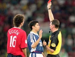 Nach 34 Sekunden war bei der EURO 2000 Schluss für Mateja Kežman