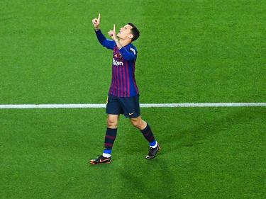 Coutinho celebra un tanto en el Camp Nou. (Foto: Getty)