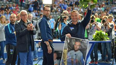 Am Samstag wurde Pál Dárdai zunächst im Berliner Stadion verabschiedet