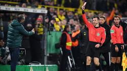 Gladbach-Coach Marco Rose sah beim BVB die Rote Karte