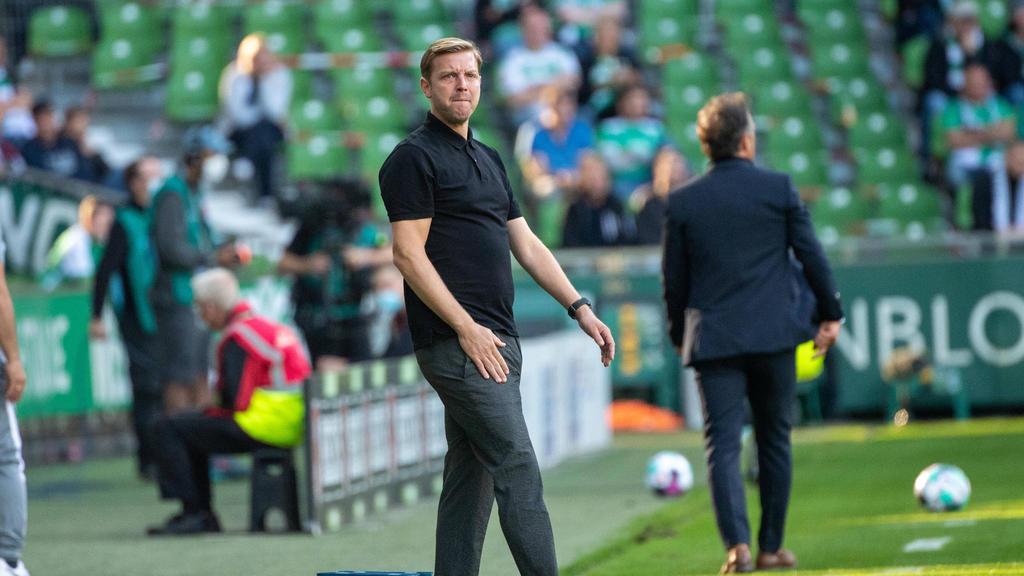 Florian Kohfeldt unterlag mit Werder Bremen gegen Hertha BSC