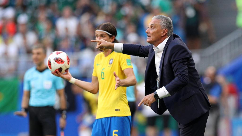 Brasiliens Trainer Tite hat für seine Mannschaft einen guten Mix gefunden