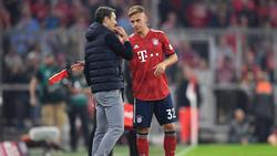 Bayern-Coach Niko Kovac im Gespräch mit Joshua Kimmich